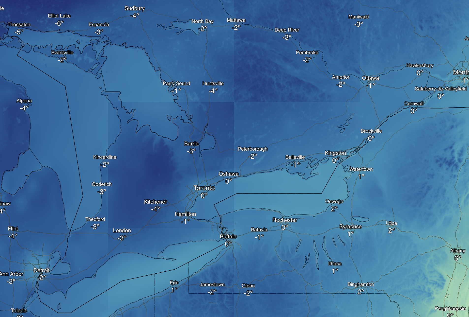 Intense Snow Squalls to Impact Areas East of Georgian Bay Starting ...