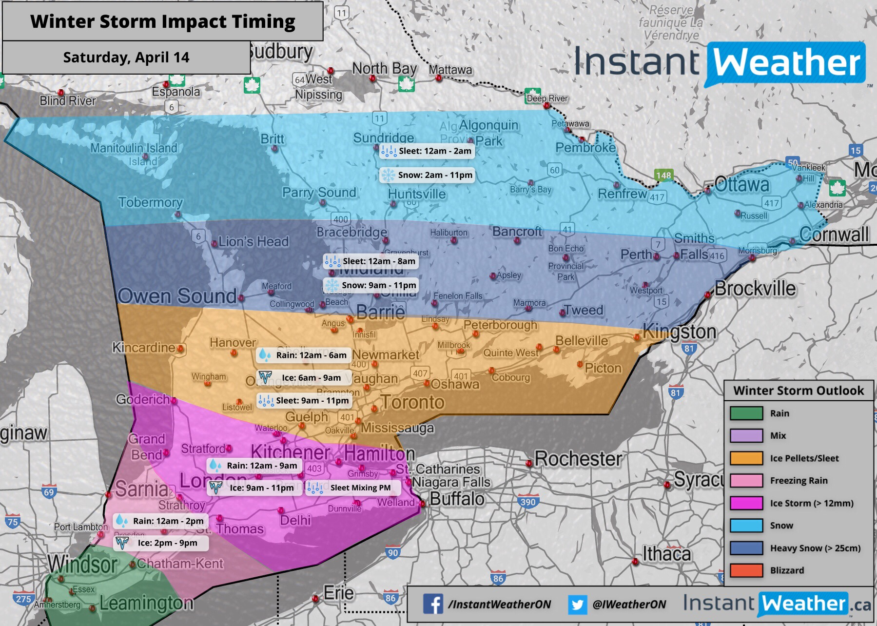Dangerous Winter Storm to Impact Southern Ontario This Weekend With ...