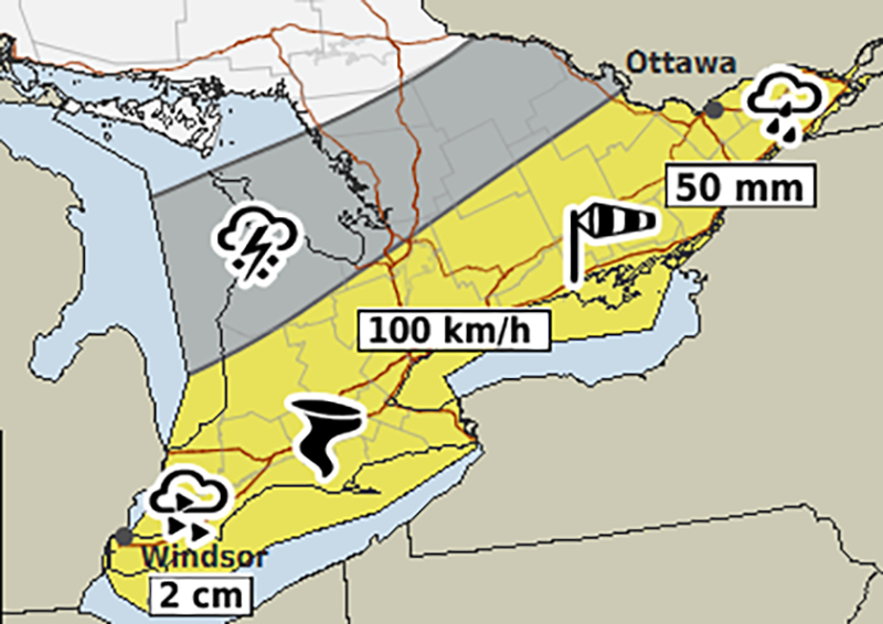 Environment Canada Includes Tornado Risk & 100km/h Wind Gusts in ...