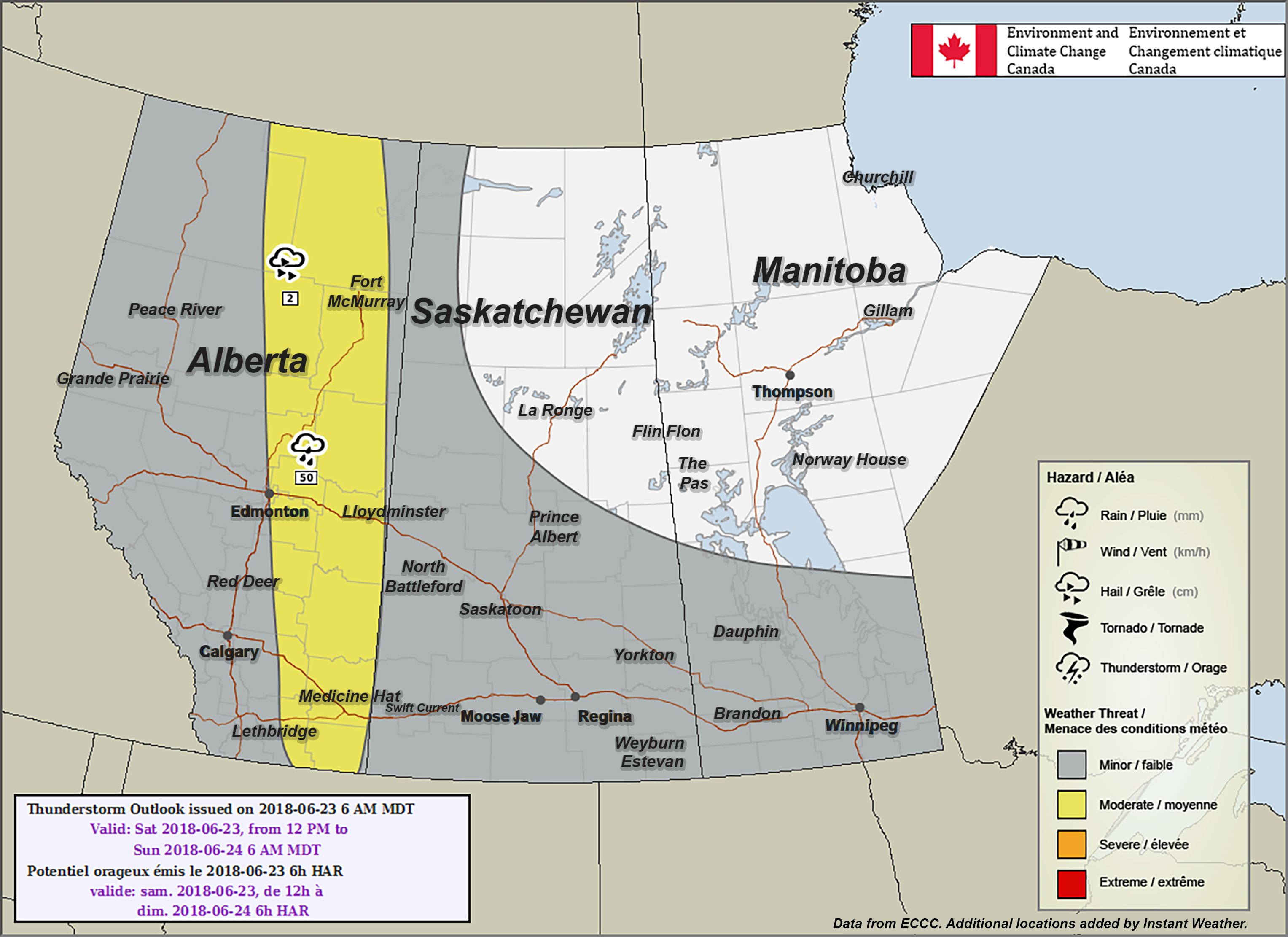 Map Medicine Hat Alberta Canada Edmonton, Medicine Hat & Fort McMurray Included in Environment