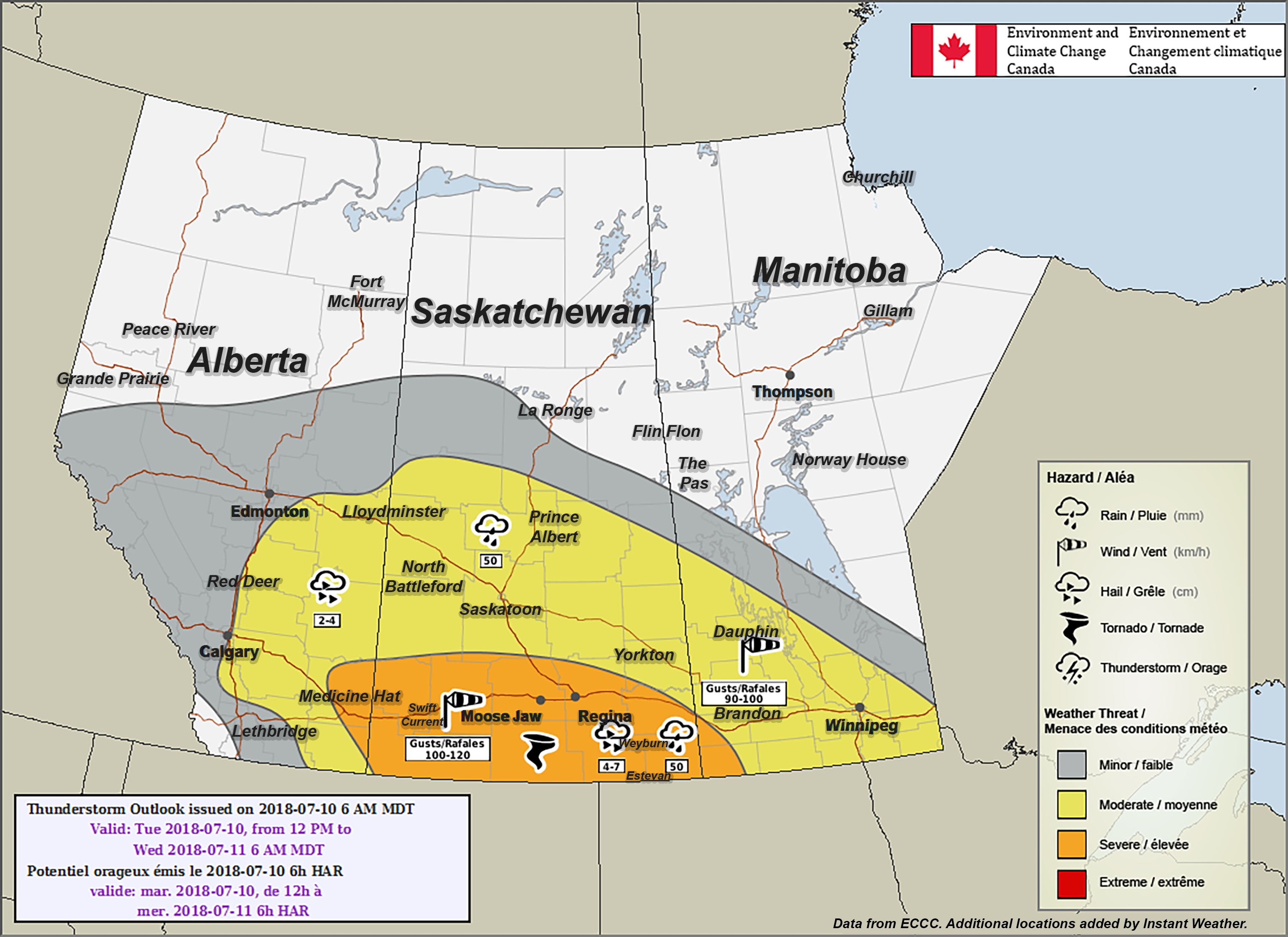 Calgary, Medicine Hat, Red Deer & Lloydminster Included in ... on climate map of canada, wildfires map canada, world map canada, tourism map canada, weather network canada, weather radar north america, fire map canada, google maps canada, product map of canada, road map of canada, heating degree days map canada, summer weather in canada, weather and climate of canada, energy map canada, natural resource map of canada, political map canada, temperature map canada, europe map canada, weather report canada, plant map canada,