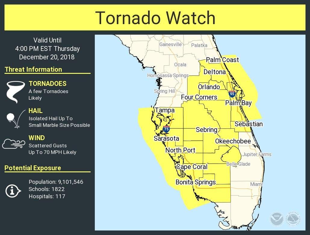 Dangerous Weather Possible Across Florida Today (Thurs, Dec