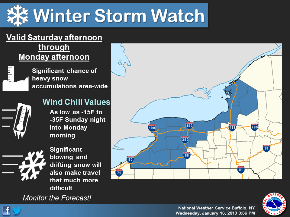 US Weather Service Issues 'Winter Storm Watch' Just South of ... on