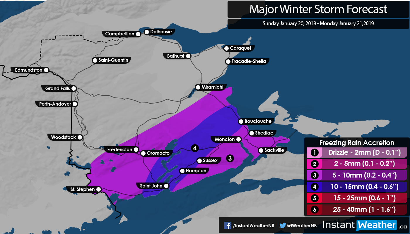 Major Winter Storm Looking Likely for NB This Sunday