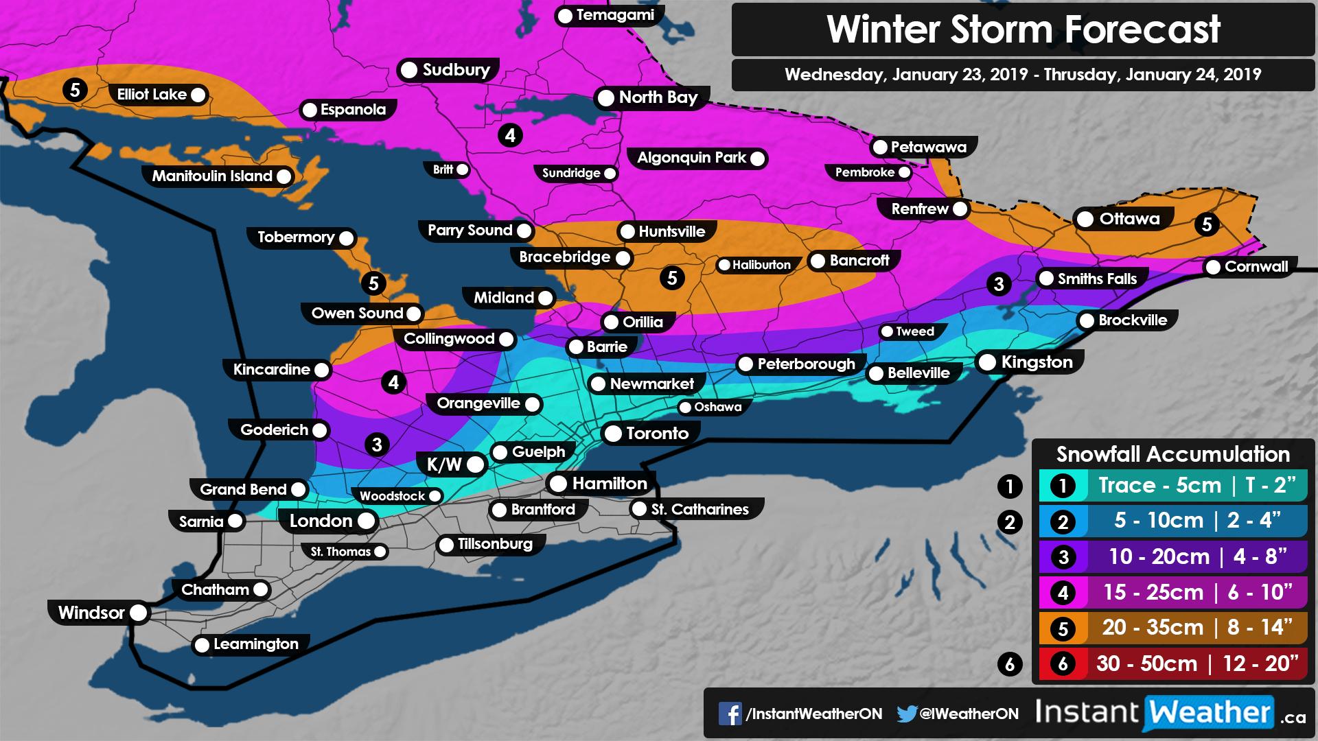 Winter Storm to Wreak Havoc on the Wednesday Morning/Evening